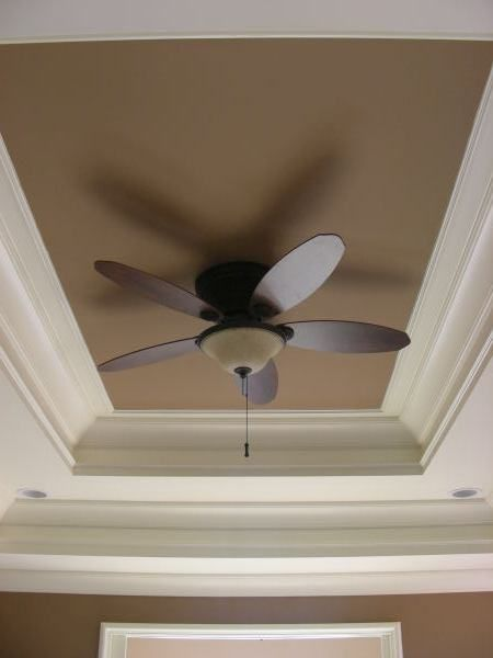 Tray ceilings colored ceiling and ceilings on pinterest for Tray ceiling trim ideas