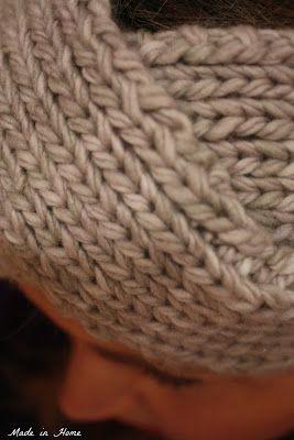 Vintage knitting headband. very quick knit. Pattern by ...
