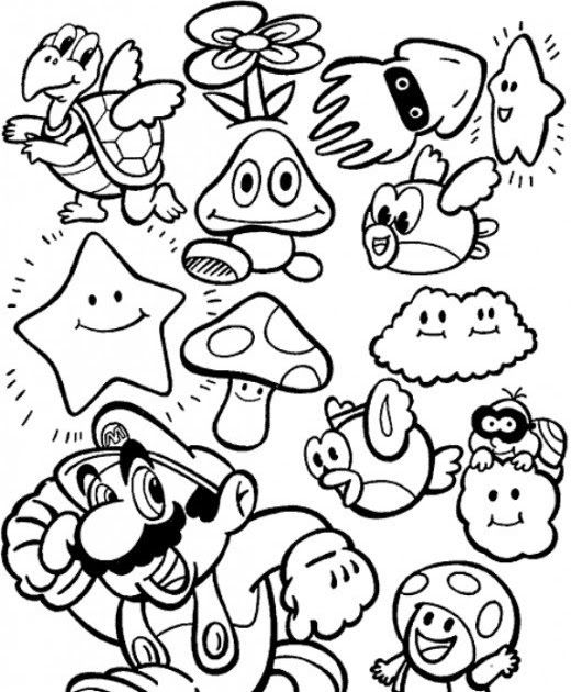 Coloring Pages Mario Party