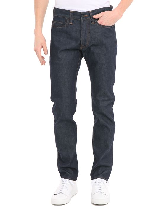 Jean Tapered Compact Indigo Brut ED75