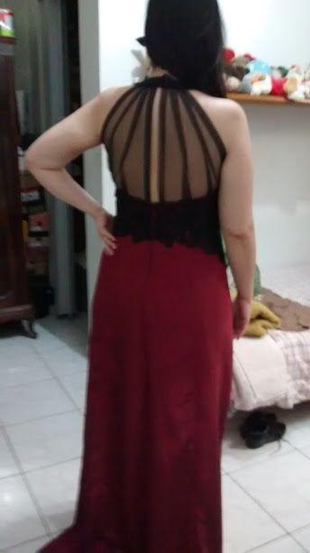 Confeccionado Vestido de festa com renda bordada para Fernanda
