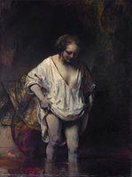 Rembrandt - Mujer bañándose, la modelo fue Hendrickje, 1654