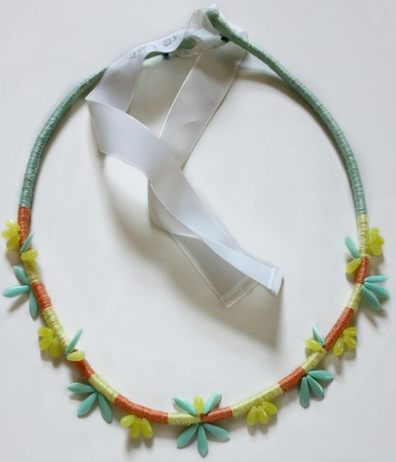 wrapped and beaded necklace.