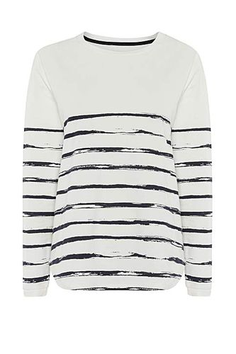 Linea Weekend Brush Stripe Long Sleeve Sweat Top, $75, available at House of Fraser.