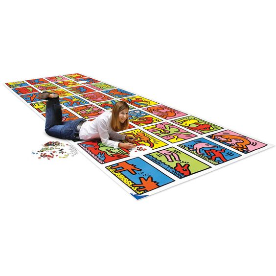 The World's Largest Jigsaw Puzzle - Hammacher Schlemmer - 32,256 pieces. When finished, it measures 17 feet long and 6 feet wide. Are you up to the challenge?