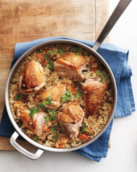Skillet Chicken with Apricots and Capers from Everyday Food