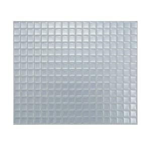 Smart Tiles 9.65 in. x 11.55 in. Minimo Silver Mosaik Adhesive Backsplashes (1-Piece) // from Home Depot