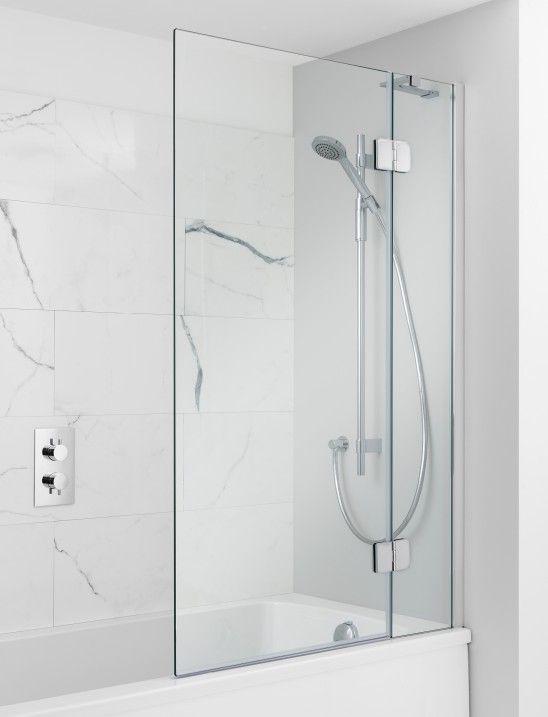 Ten Hinged Bath Screen In Frameless Luxury Bathrooms Uk Crosswater Holdings Bath Screens Shower Over Bath Bathroom Design Inspiration