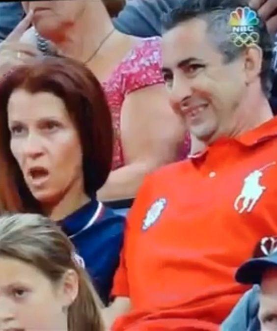 So sweet watching them watch Ali.  Top Olympic Mom Moments - Lynn Raisman - mom.me