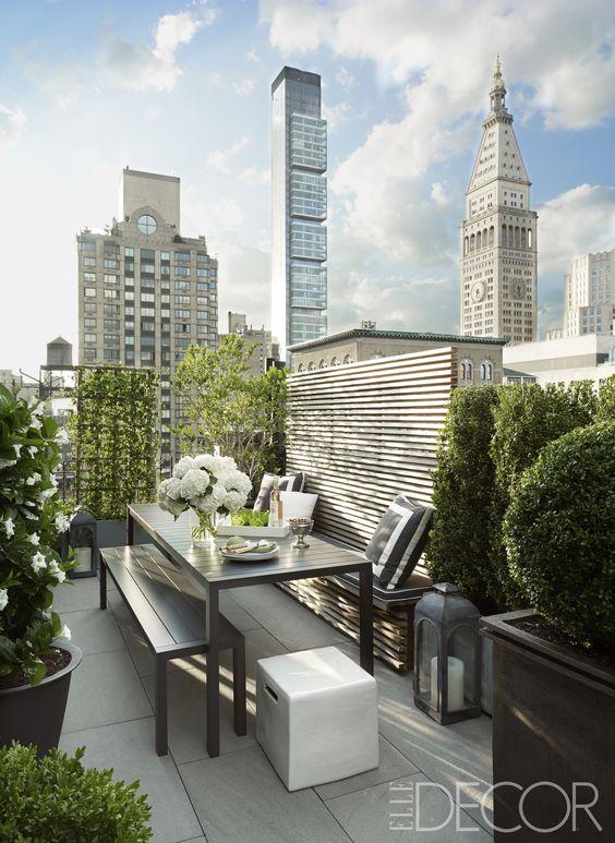 apartment patio privacy ideas wonderful manhattan   Aluminum table, Terrace and Rooftop terrace on Pinterest