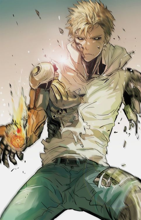 그리고 싶었던 제노스. ||| Genos ||| One Punch Man Fan Art by 뽀리 on Twitter: