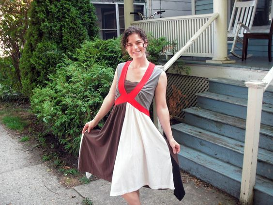 Make a dress sewn totally from recycled tshirts!