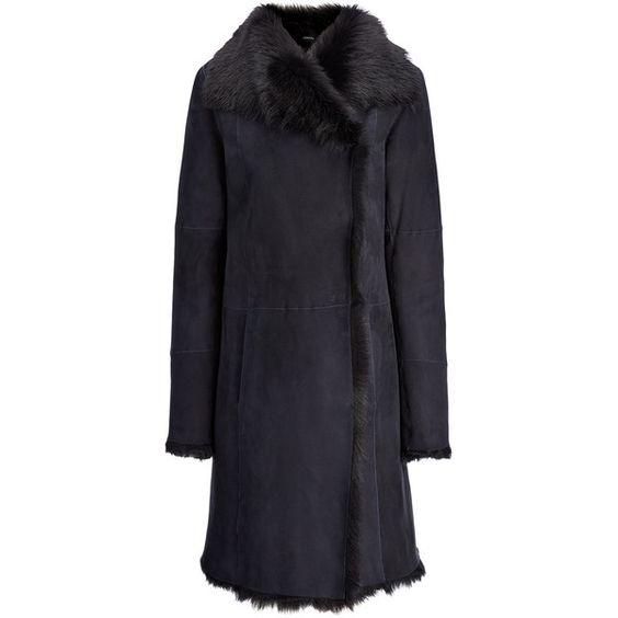 Joseph Toscana Anais Sheepskin Coat in NAVY/BLACK (185.605 RUB ...