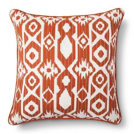 Orange Global Stripe Throw Pillow – Threshold™ : Target