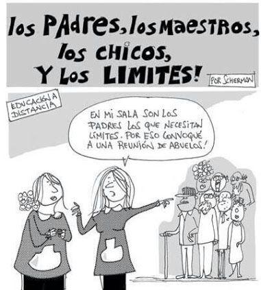 Los padres, los maestros, los chicos y los limites!! En mi sala son los padres lo que necesitan limites. Por eso convoqué a una reunión de abuelos!!: