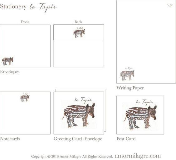 le Tapir Amor Milagre Art and Stationery amormilagre.com