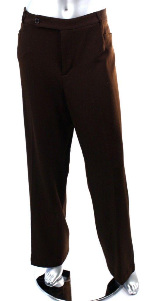 Lauren Ralph Lauren 'Adelle' Women's Brown Pants Sz 16 Plush ...