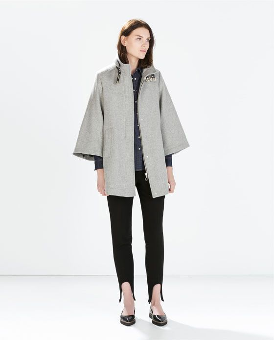 ZARA - SALE - CAPE COAT WITH POCKETS | Kim's clothes | Pinterest