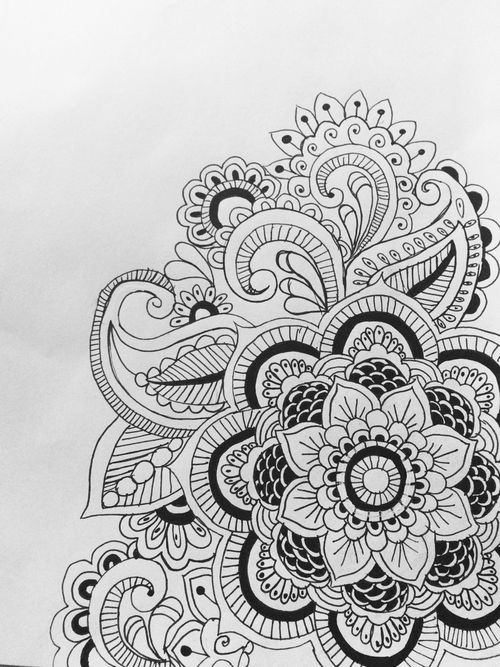 Paisley Black And White Tumblr Google Search Drawings Pinterest