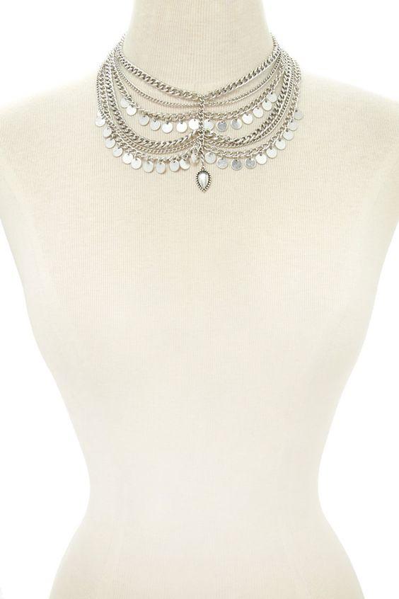 Collar Multi Cadena Ornamental