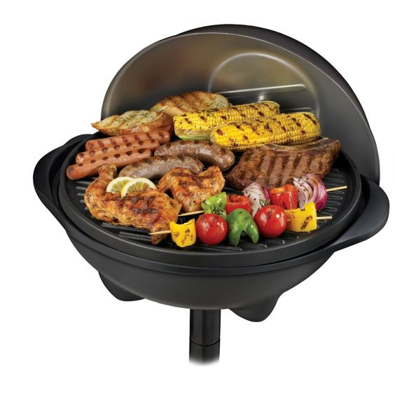 A grill that cooks on the deck or in your kitchen.