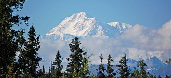 Talkeetna, Alaska sits at the base of Mt. McKinley.