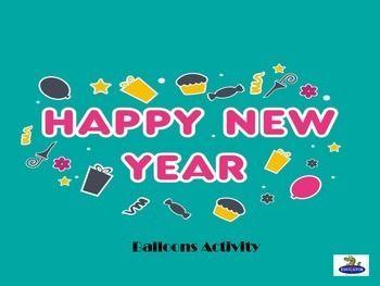 FREE...Happy New Year Balloons Activity!