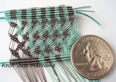 Micro macrame knotting in Superlon Micro Bead Cord S-lon