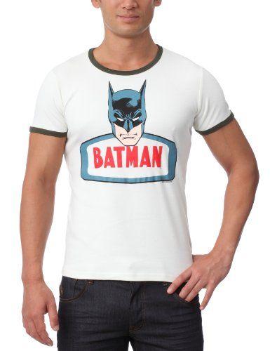 TRAKTOR - Camiseta de Batman de manga corta unisex, talla 43, color Blanco (Milk White/Black Forest Green) #camiseta #starwars #marvel #gift