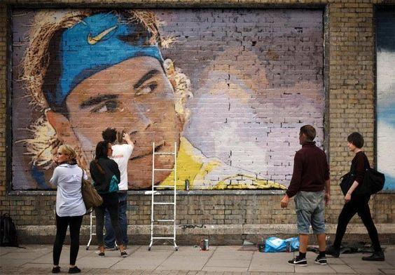 Nice mural! (Twitter / RAFAddicted: #Rafa painted on building)