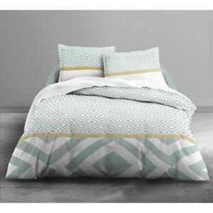 Matière : 100% polyester - Dimensions : 220x240 cm/ 63x63 cm - Coloris : bleu…