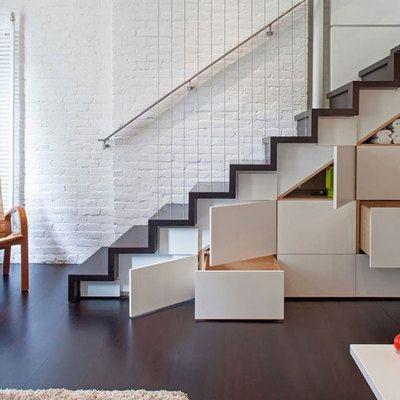 Muebles bajo escalera #escalera #diseño #espacio #ahorro ...