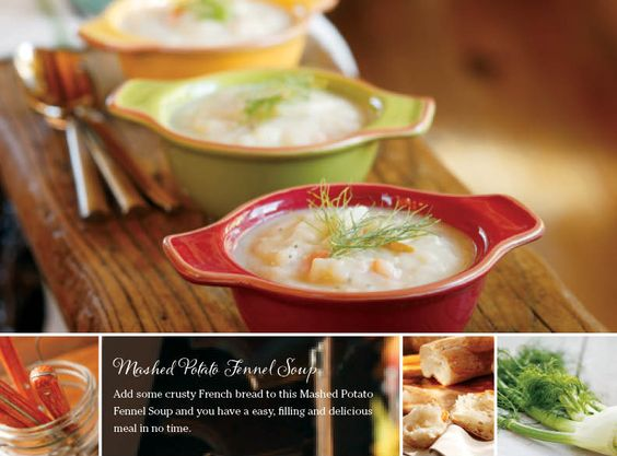 To make a soup that has a lot of flavor doesn't have to take a lot of time. Take for example this Mashed Potato Fennel Soup. It's hearty, full of veggies and comes together in the time it takes to make a salad and set the table. There's a chill in the air and harvest is kicking into full speed here in Eastern Idaho. Dishes that warm and fill up hardworking farmers are what's on the menu.