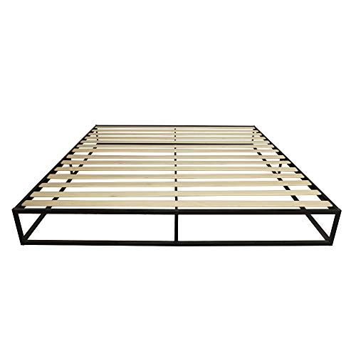 Simple Basic Iron Bed King Queen Twin Size 250 Kg Capacity Home