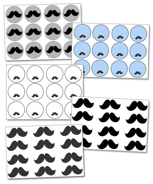 Free Printable Mustache Cupcake Toppers - Printable Treats
