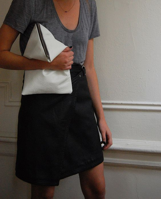 DIY Triangle Clutch / DIY C¨¦line BERLINGOT Clutch, Helmut by ...