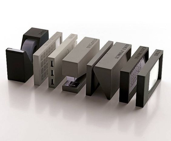 Buro Desk Accessories Seven Piece Set, by Ginger Rose