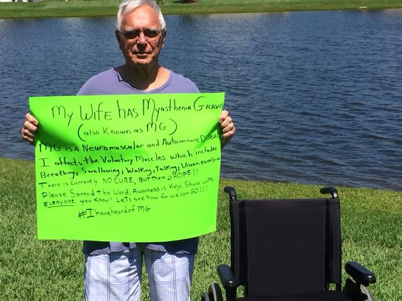 My hubby spreading Awarness for my disease