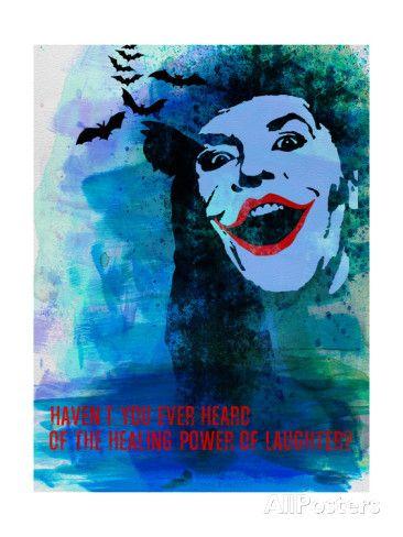 Laughter Watercolor Impressão artística