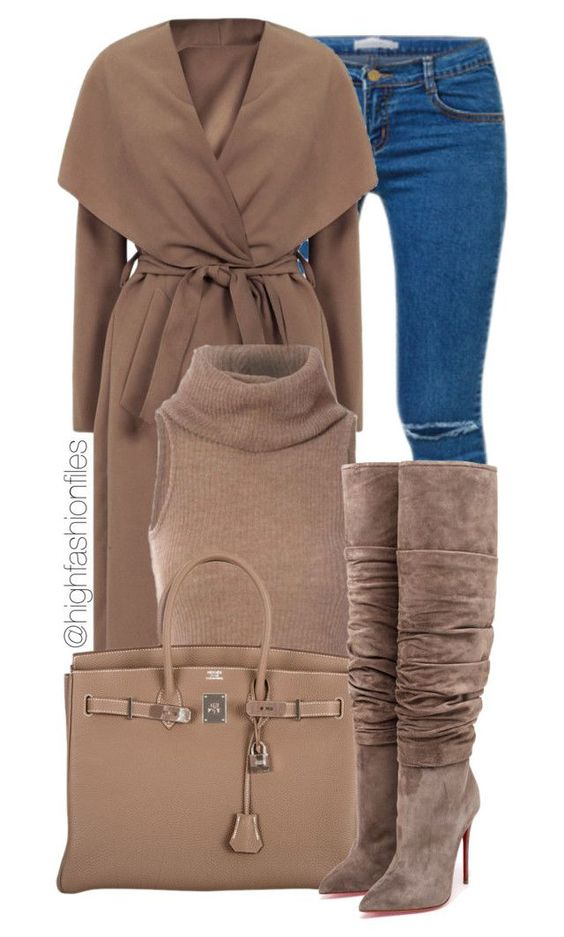 """Feeling Winter"" by highfashionfiles ❤ liked on Polyvore featuring Hermès and Christian Louboutin:"