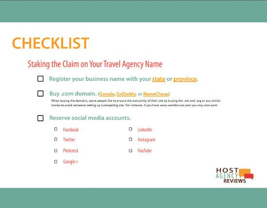 Travel Agency Name Checklist Buisness Tips On Agencies
