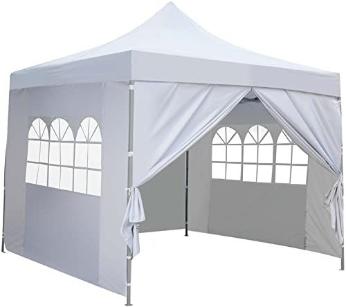 New 10x10 Ft Outdoor Pop Up Canopy Tent 4 Removable Side Walls Instant Gazebos Shelters Online The108ideashits In 2020 Canopy Tent Pop Up Canopy Tent Blue Outdoor Furniture