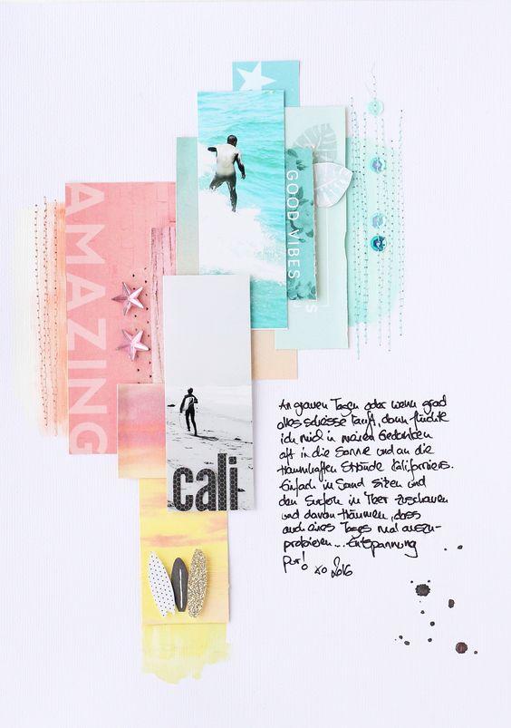 "Mai Kit 2016 Layout ""California"" by Steffi Ried / Scrapbook Werkstatt"