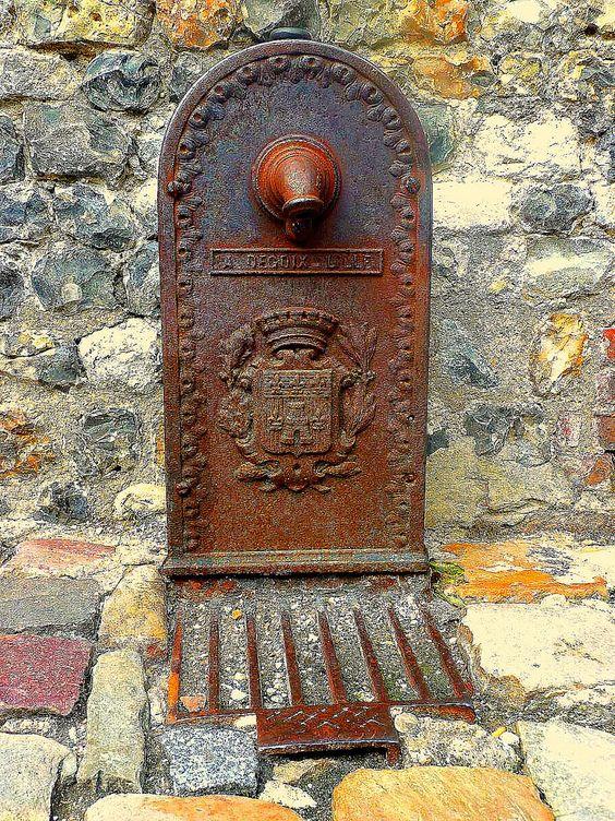 Old street water Pump in Normandy