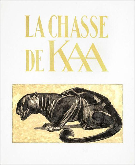 La Chasse de Kaa. Illustrator Paul Jouve.