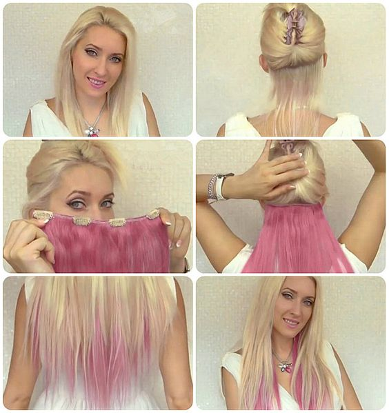 """Ombre Hair Extensions Tutorial. SO fun. I should just get this for my """"colored hair kick."""""""