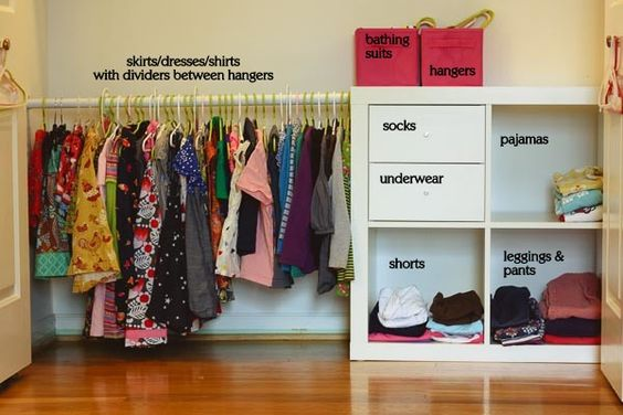Montessori Closet: Organized so kids can choose clothes and dress independently. Great ideas here!: