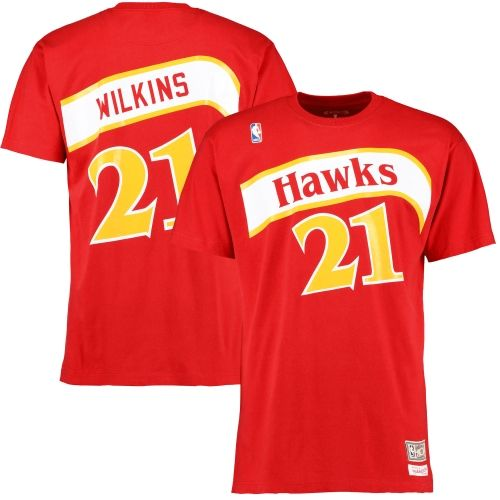 Jerseys NFL Sale - Get this Dominique Wilkins Name and Number T-shirt from Mitchell ...