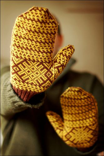 I'm pretty much in love with everything he designs.  Komi mittens by Brooklyn Tweed