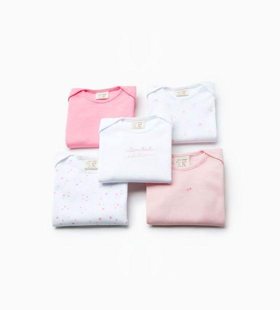 Imagem 1 de Pack cinco bodies estrelas da Zara